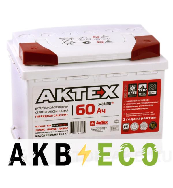 Автомобильный аккумулятор Актех 60L (540A 242x175x190)