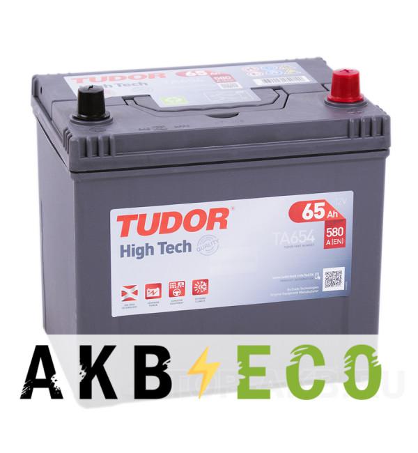 Автомобильный аккумулятор Tudor High-Tech 65R (580A 230x172x222) TA654