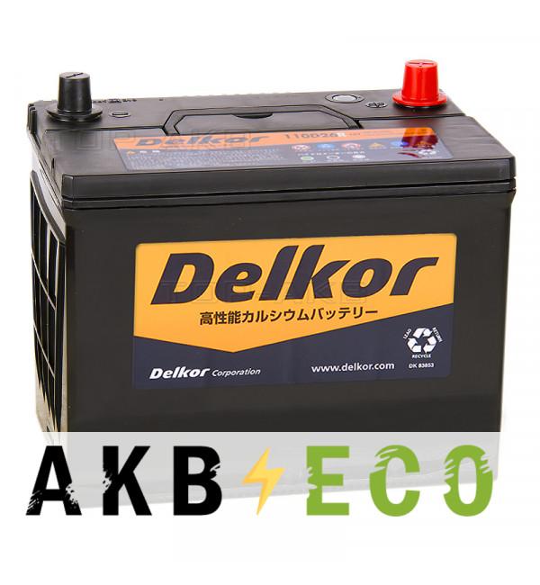 Автомобильный аккумулятор Delkor 110D26R (90L 720A 260x173x225)