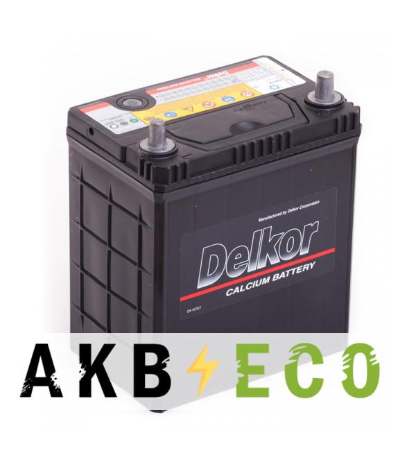 Автомобильный аккумулятор Delkor 42B19L (40R 340A 187x127x227)