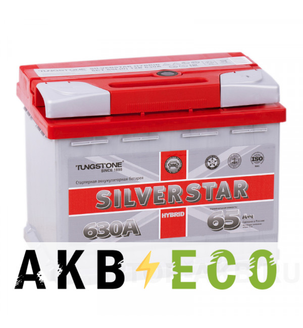 Автомобильный аккумулятор Silverstar Hybrid 65R 630А 242х175х190 (гибридный)