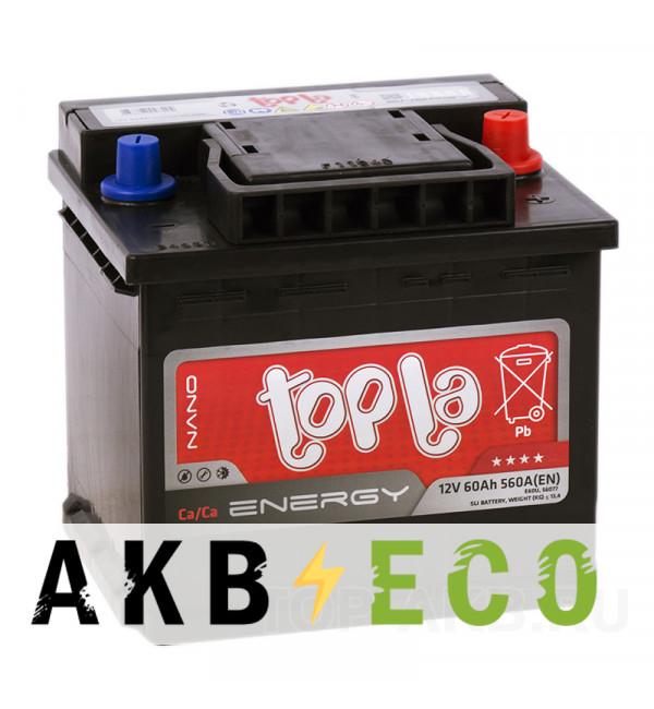 Автомобильный аккумулятор Topla Energy 60 uni (560A 207x175x190) 108660 56077