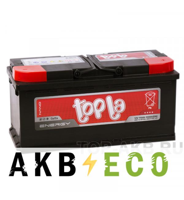 Автомобильный аккумулятор Topla Energy 110R (1000A 393x175x190) 108210 61002