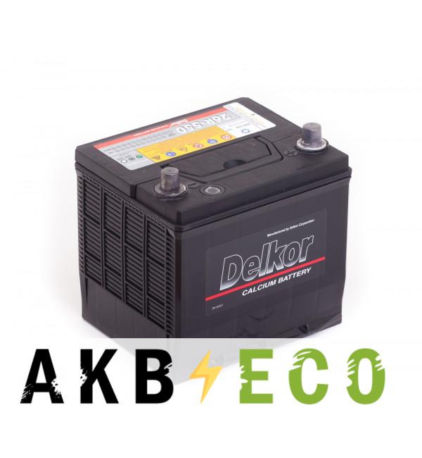 Автомобильный аккумулятор Delkor 26R-550 (60R 550А 206х172х205)