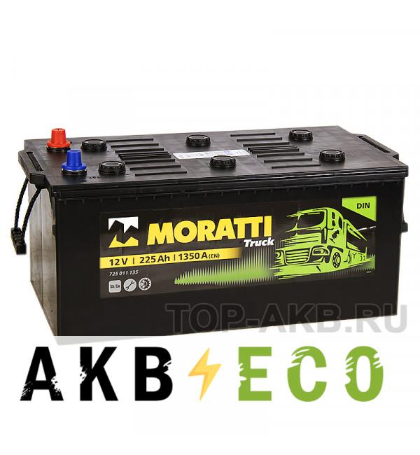Автомобильный аккумулятор Moratti 225 евро 1350А 517x273x240