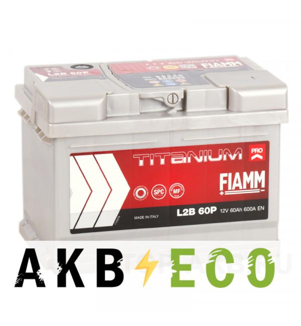 Автомобильный аккумулятор Fiamm Titanium Pro 60R низкий 600A (241x175x175) L2B 60P