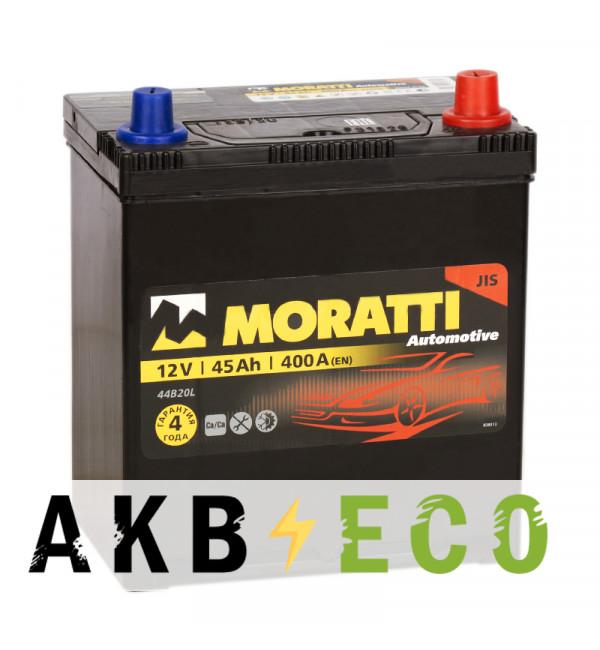 Автомобильный аккумулятор Moratti Asia 45R 400А 187x127x227 B19L