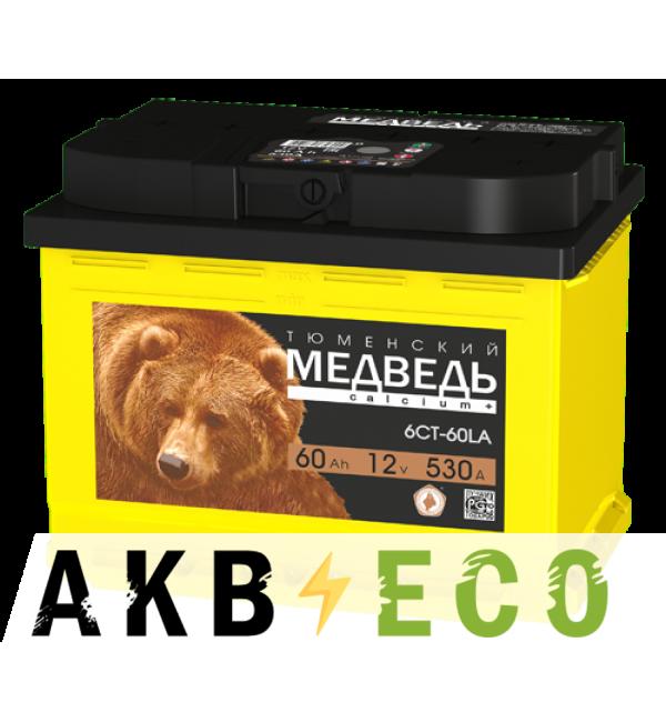 Автомобильный аккумулятор Тюменский медведь Calcium Plus 60 Ач обр. пол. 590A (242x175x190) гибридный
