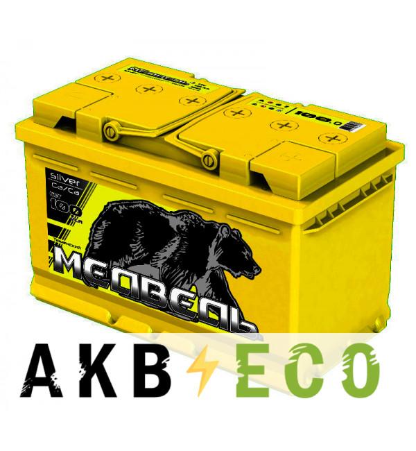 Автомобильный аккумулятор Тюменский медведь Сa/Сa 100 Ач обр. пол. 850A (353x175x190) Silver