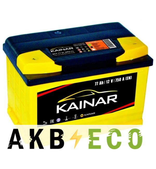 Автомобильный аккумулятор KAINAR 77 Ач прям. пол. 750А (278x175x190)