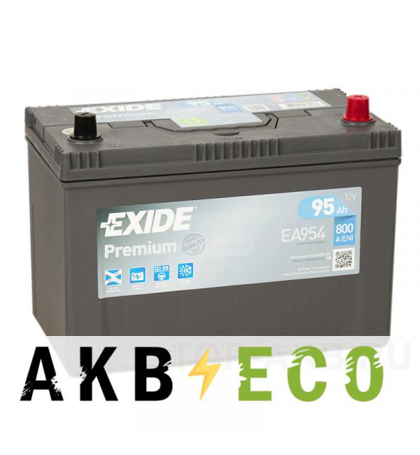 Автомобильный аккумулятор Exide Premium 95R (800А 306х173х225) EA954