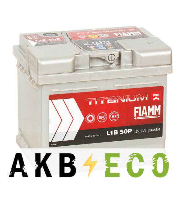 Автомобильный аккумулятор Fiamm Titanium Pro 50R низкий 520A (207x175x175) L1B 50P