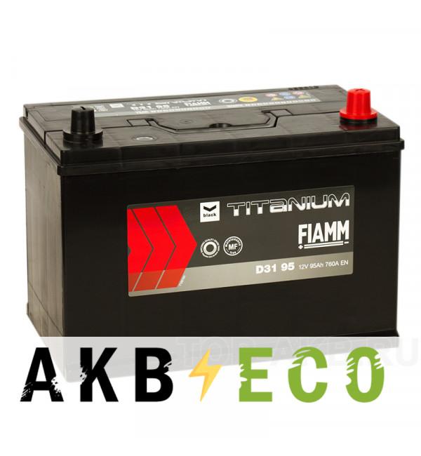 Автомобильный аккумулятор Fiamm Asia 95R 760A 306x173x225