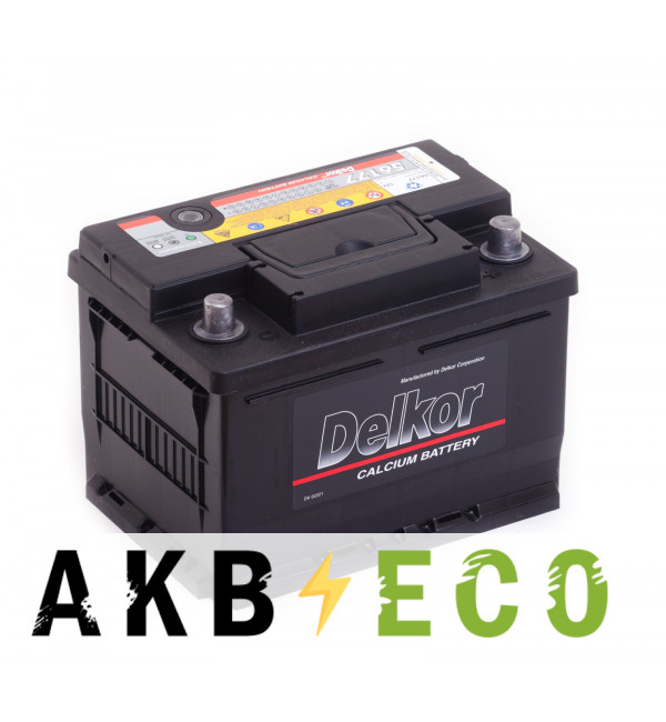 Автомобильный аккумулятор Delkor 56177 (61R 600A 242x175x175)