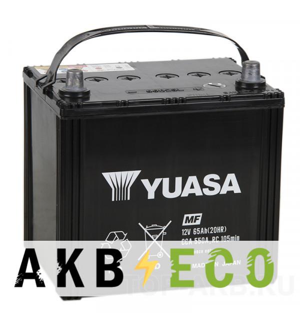 Автомобильный аккумулятор YUASA 80D23L (65R 550A 230x173x225)