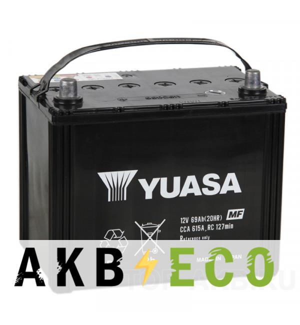 Автомобильный аккумулятор YUASA 85D26R (69L 615A 260x173x225)
