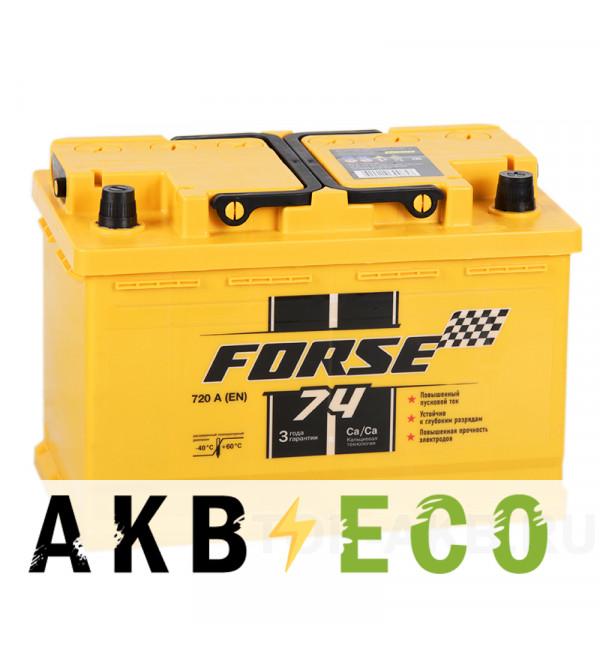 Автомобильный аккумулятор Forse 74R 720A (278x175x190)
