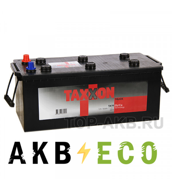 Автомобильный аккумулятор Taxxon 190 евро 1100A (524x239x240) 895912, 65618