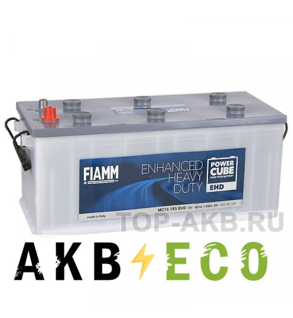 Автомобильный аккумулятор Fiamm Power Cube 185 рус 1200A (524x239x240) Heavy Duty M154185EHD