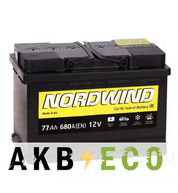 Автомобильный аккумулятор Nordwind 77R 680А 278x175x190