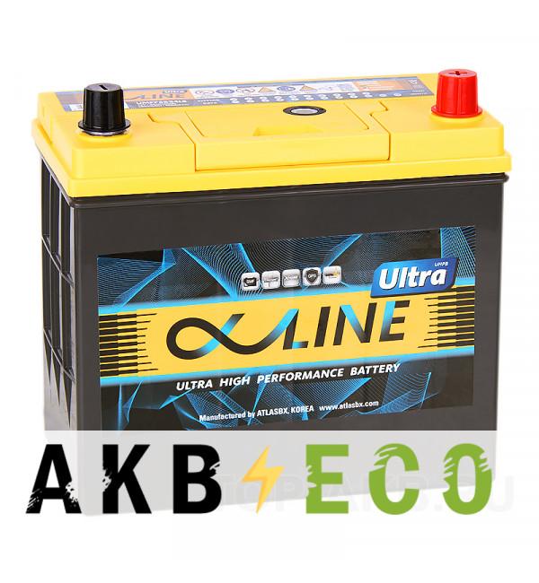 Автомобильный аккумулятор Alphaline Ultra 75B24LS 59R 550A 238x129x227