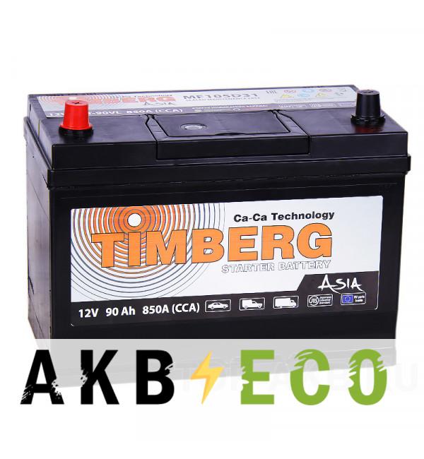Автомобильный аккумулятор Timberg Asia 105D31R 90L 850A 296x172x220