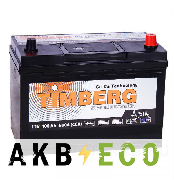 Автомобильный аккумулятор Timberg Asia 125D31L 100R 900A 296x172x220