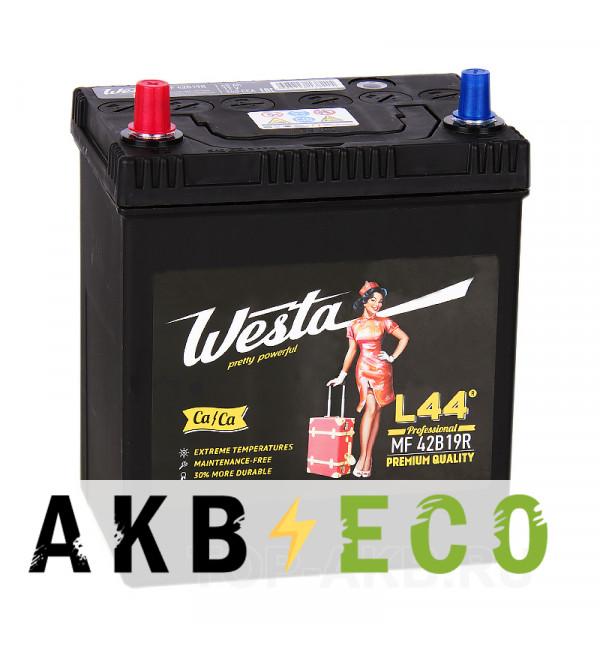 Автомобильный аккумулятор Westa 42B19R (40L 340A 187x127x219)