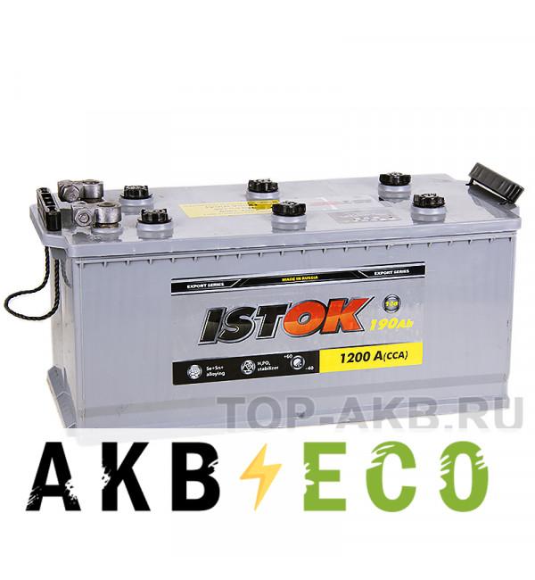 Грузовой аккумулятор ISTOK 190 рус 1200A (524x239x240) клеммы под болт