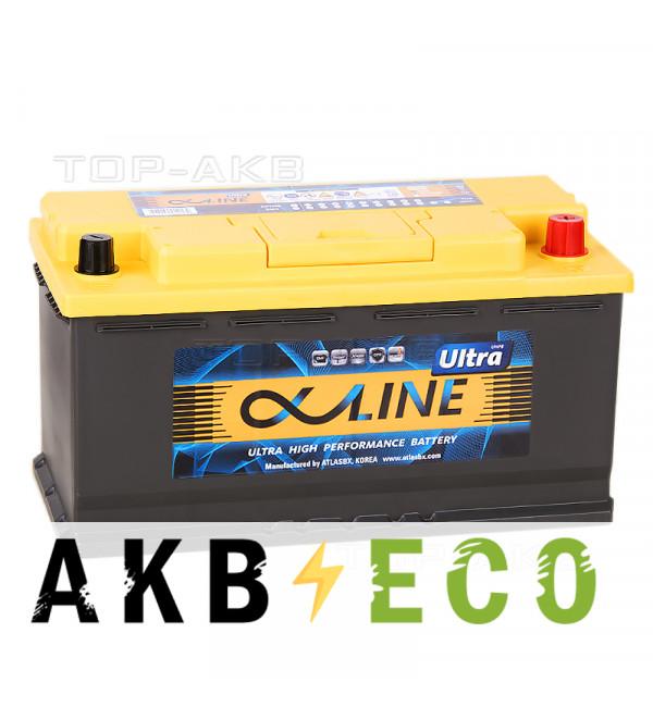 Автомобильный аккумулятор Alphaline Ultra 105R 950A (353x175x190) 60500
