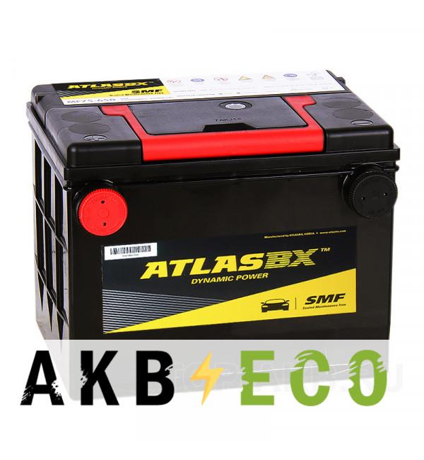 Автомобильный аккумулятор Atlas Dynamic Power MF75-630 (75L 630A 230x175x186) боковые клеммы