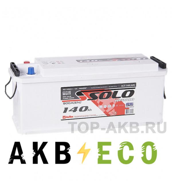 Автомобильный аккумулятор SOLO 140 евро (900A 514х175х210)