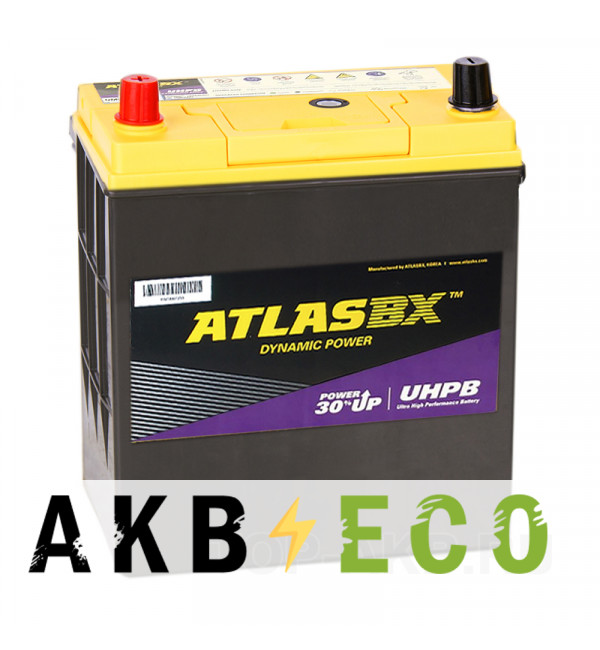Автомобильный аккумулятор Atlas UHPB UMF 55B19R (45L 390A 187x127x225)