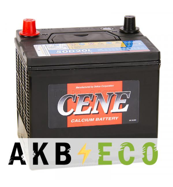 Автомобильный аккумулятор Cene 50D20L (60R 525А 208x173x207)