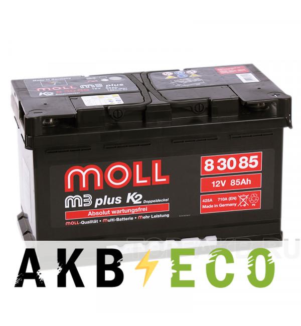 Автомобильный аккумулятор Moll M3plus 85R 710A 315x175x190