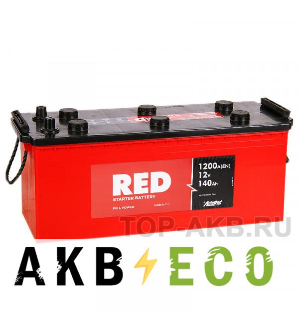 Автомобильный аккумулятор Red 140 Рус (1200А 513x189x217)