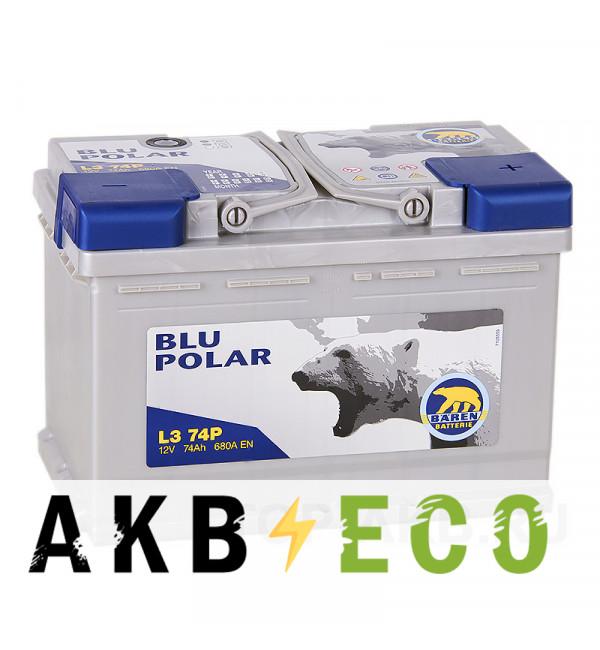Автомобильный аккумулятор Baren Polar Blu 74R 680A 278x175x190 (L374P)