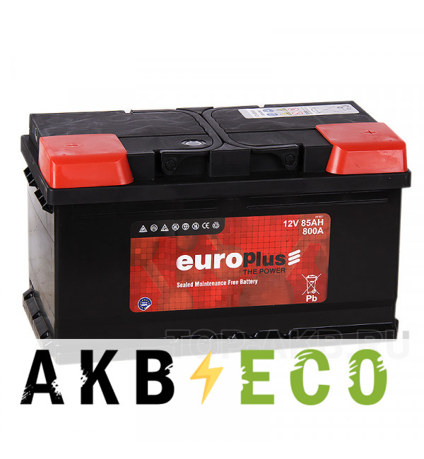 Автомобильный аккумулятор Europlus 85R низкий (800A 315x175x175)