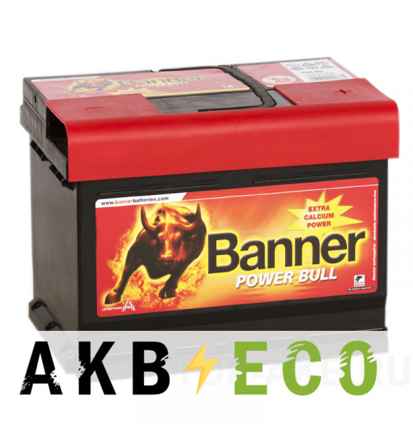 Автомобильный аккумулятор BANNER Power Bull (62 19) 62R 550A 241x175x190