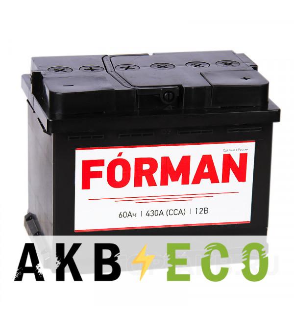 Автомобильный аккумулятор Forman 60R 430А 242x175x190