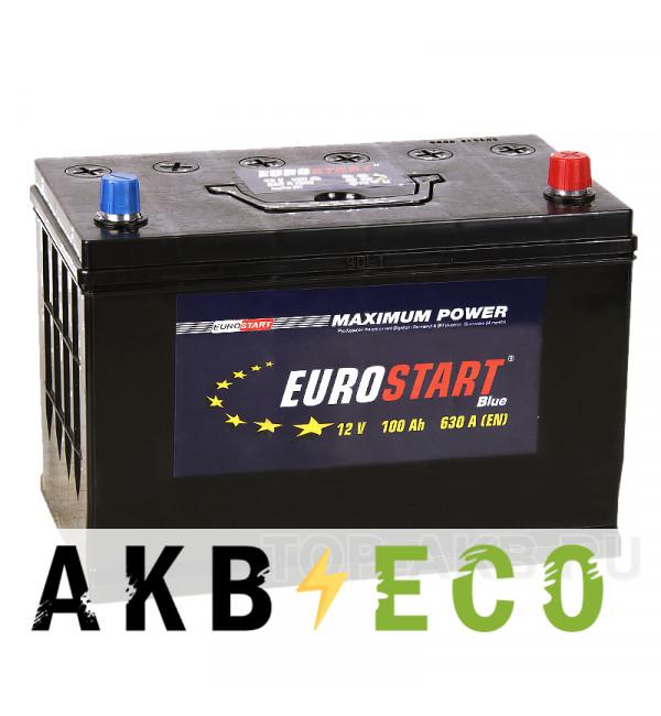 Автомобильный аккумулятор Eurostart Asia 100R (630А 306x173x225)