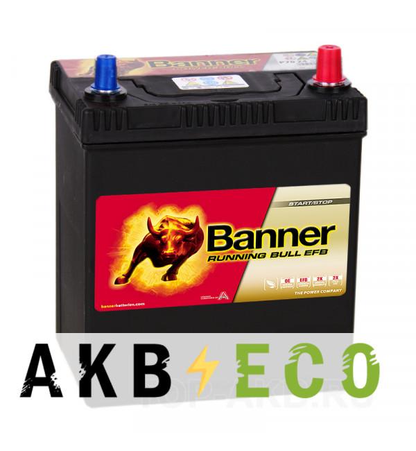 Автомобильный аккумулятор Banner Running Bull EFB Start-Stop (538 15) 38R 400A 187x127x225