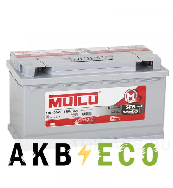 Автомобильный аккумулятор Mutlu 100L 830A 353x175x190