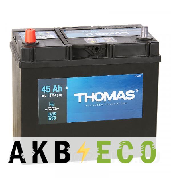 Автомобильный аккумулятор Thomas 45L 330A 238x129x227 узкие кл.