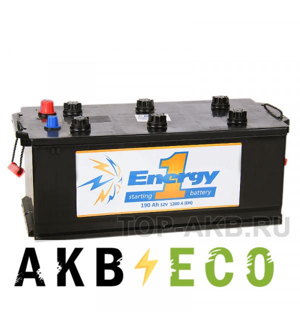 Автомобильный аккумулятор Energy ONE 190 Ач евро 1200А 516x223x223