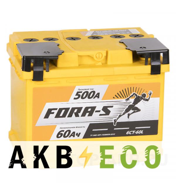 Автомобильный аккумулятор FORA-S 60L 500A 242x175x190