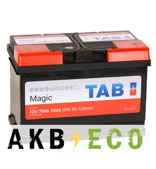Автомобильный аккумулятор Tab Magic 78R (720A 278x175x190) 189080 57549