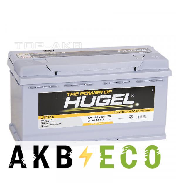 Автомобильный аккумулятор Hugel Ultra 100R 860A (353x175x190) L5 100 086 013