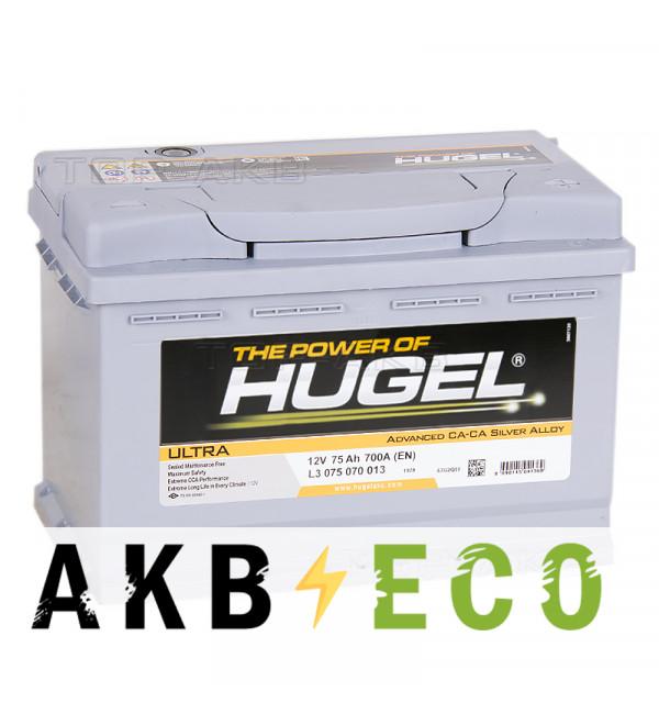 Автомобильный аккумулятор Hugel Ultra 75R 700A (278x175x190) L3 075 070 013