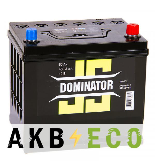 Автомобильный аккумулятор Dominator (JIS) 60 Ач 450А обратная пол. (230x170x225)